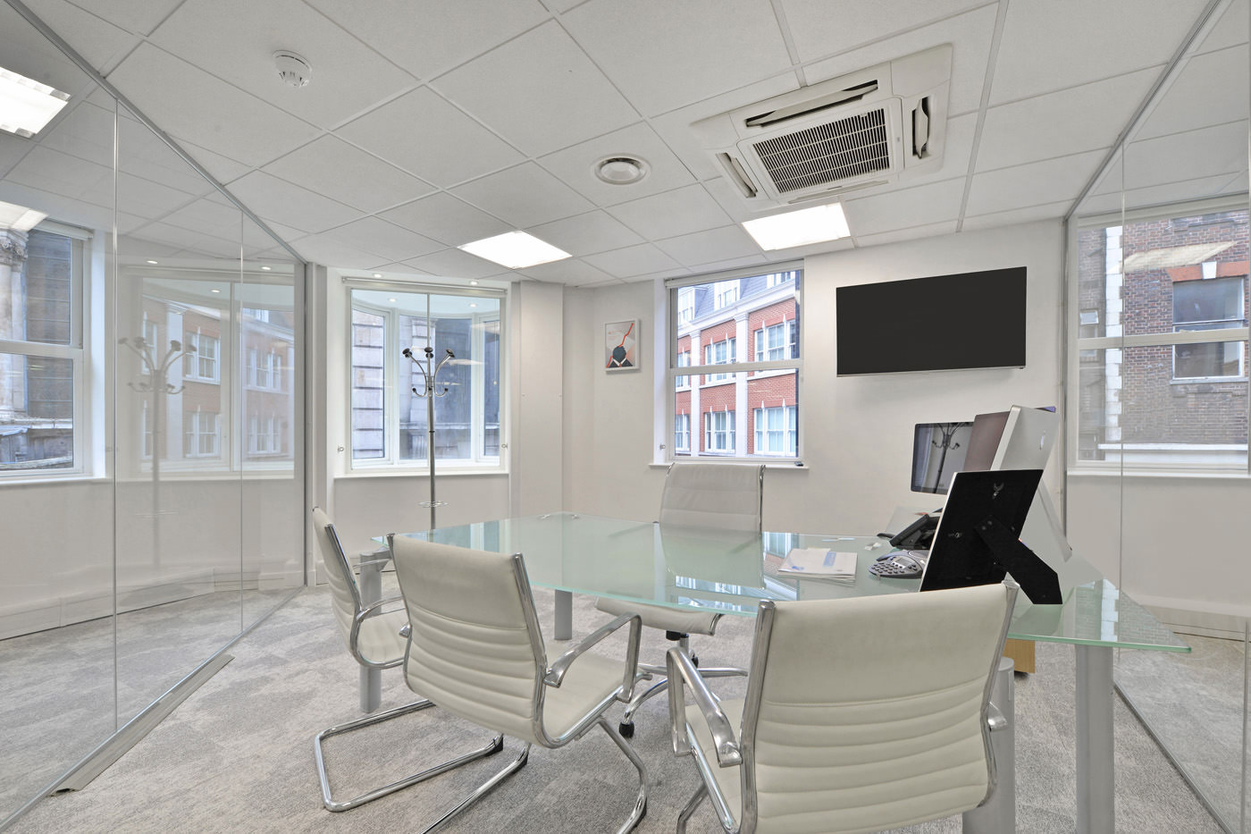 Maddox Street Office Fit Out Mayfair Small Meeting Room Close Up
