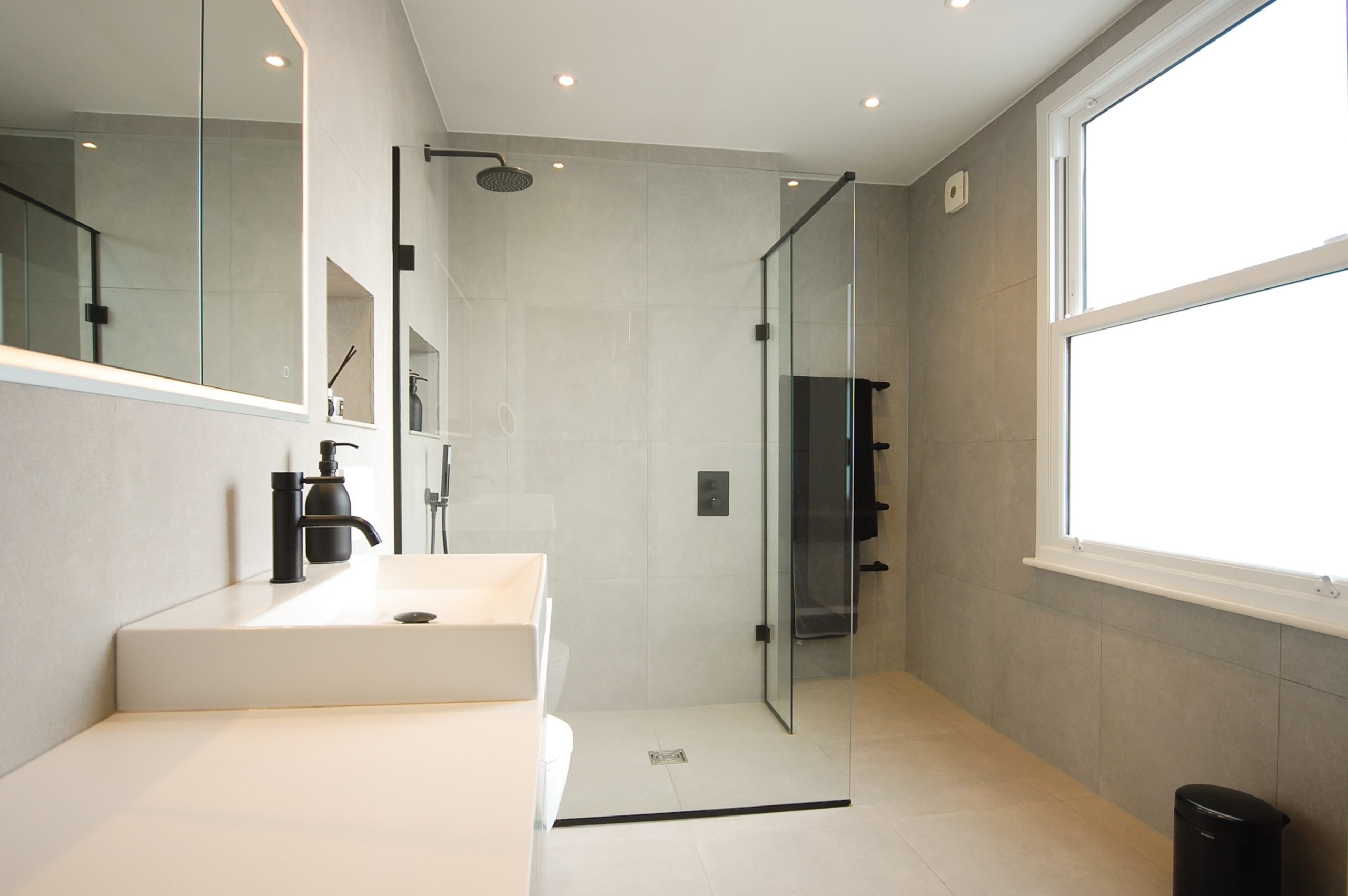 Park Crescent Residential Bathroom Installation London Shower
