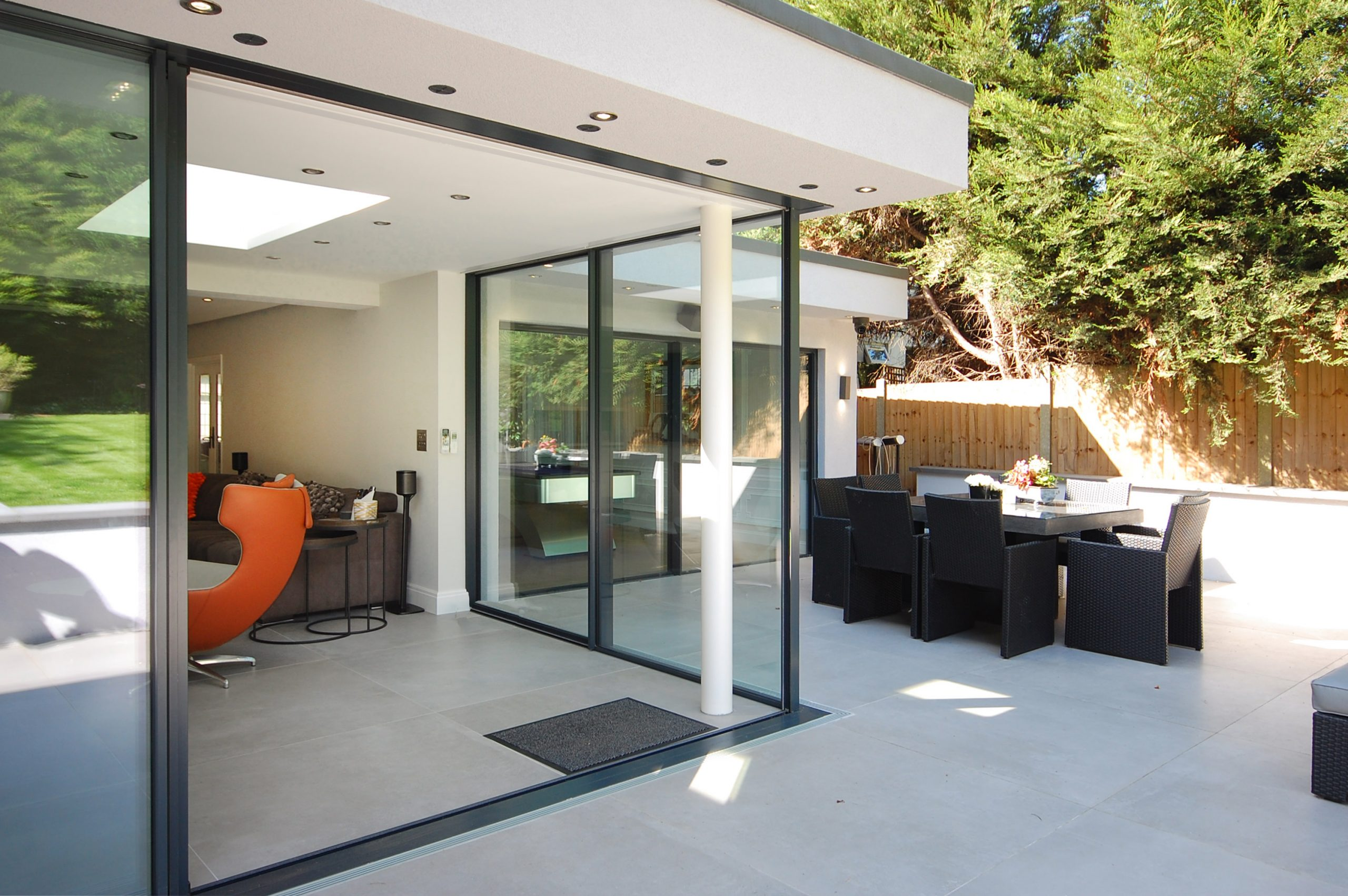 Chigwell Residential Refurb Extension Outside Dining