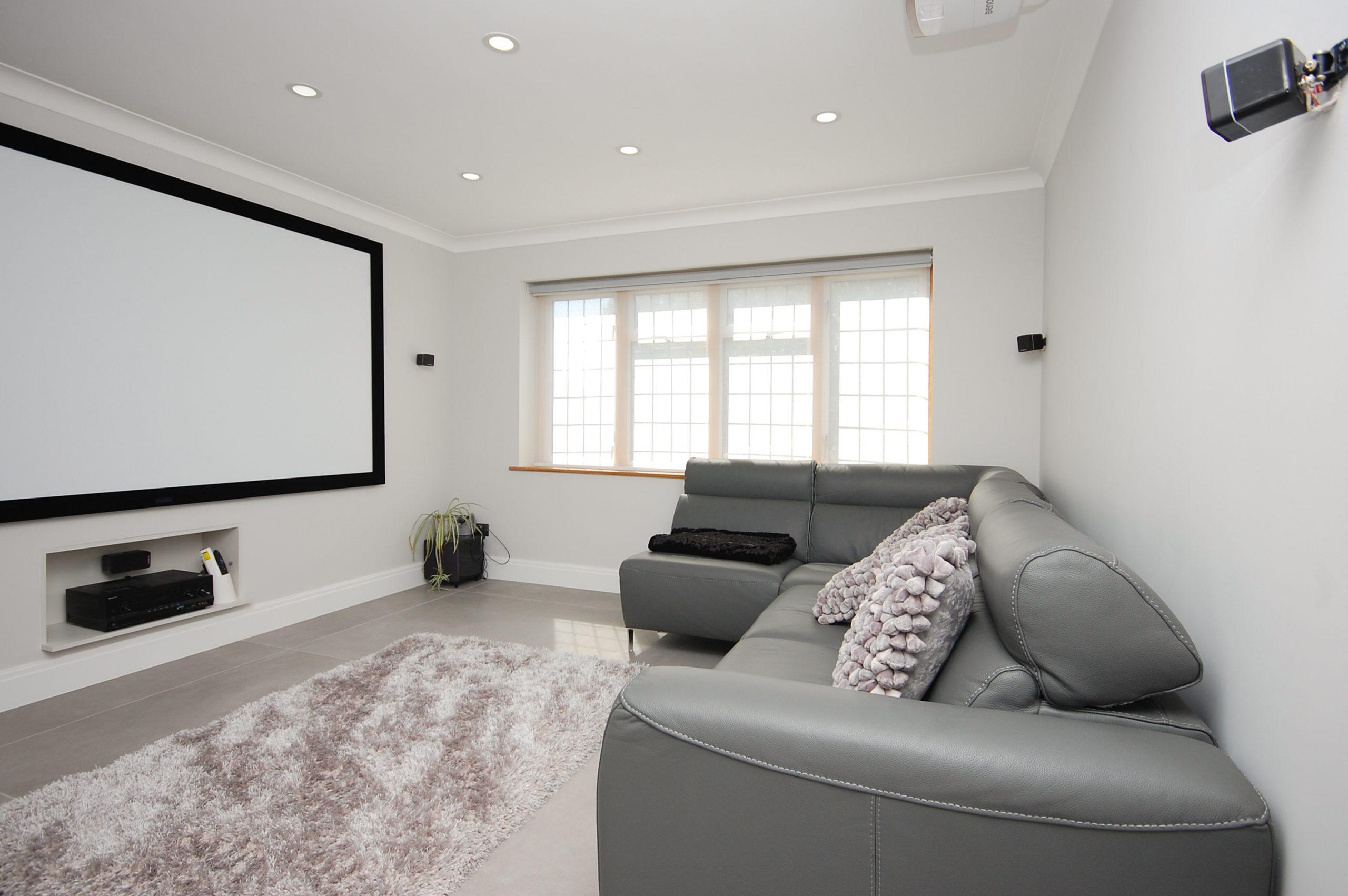 Chigwell Residential Refurb Extension Media Room